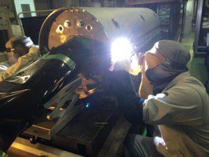 研究機関で、実験設備の圧力容器製作